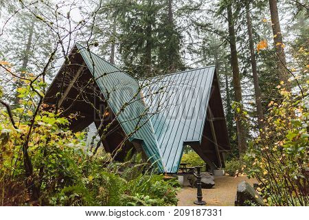 A-frame Structure In Forest Park