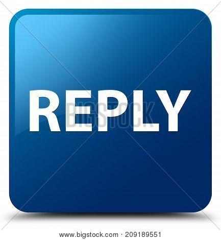 Reply Blue Square Button