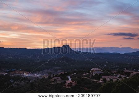 Colorful Sky Over Thumb Butte