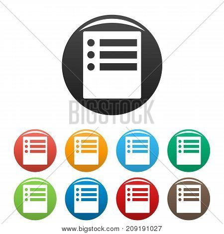 Checklist icons set. Simple black illustration of checklist vector icons isolated on white background