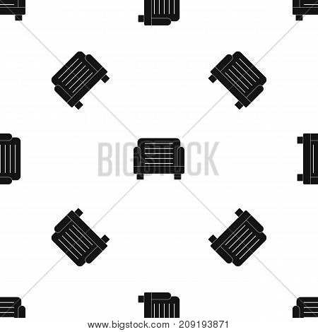 Armchair pattern repeat seamless in black color for any design. Vector geometric illustration