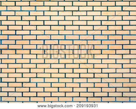 Brick yellow wall background use for background