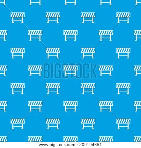 Traffic barrier pattern repeat seamless in blue color for any design. Vector geometric illustration