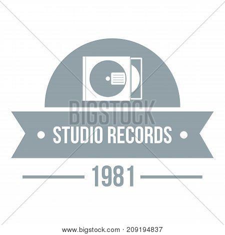 Dj studio logo. Simple illustration of dj studio vector logo for web