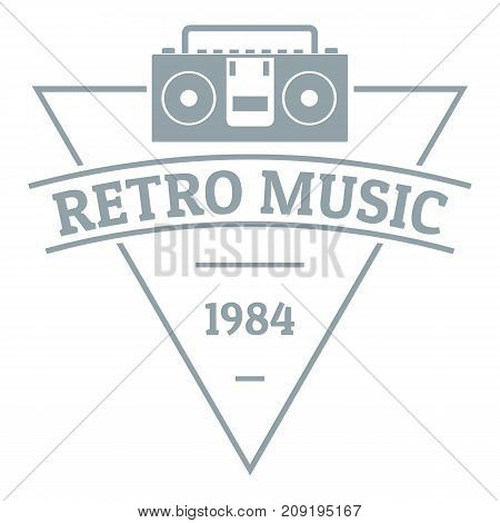 Retro music logo. Simple illustration of retro music vector logo for web