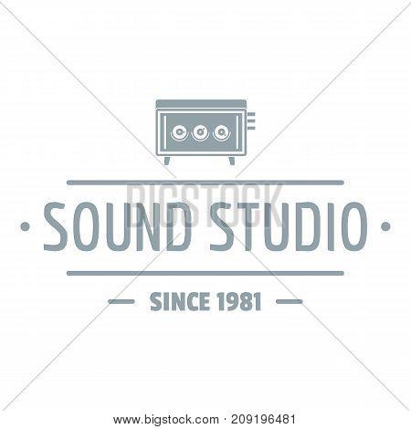 Speaker sound studio logo. Simple illustration of speaker sound studio vector logo for web