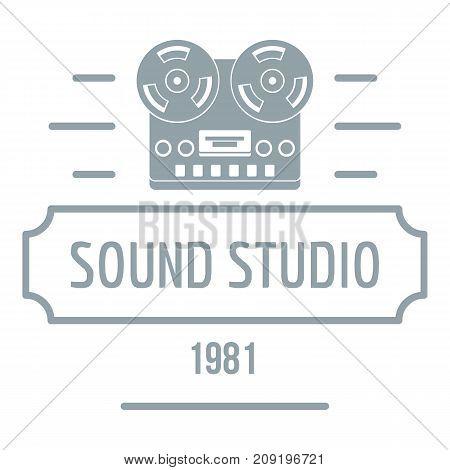 Retro sound studio logo. Simple illustration of retro sound studio vector logo for web