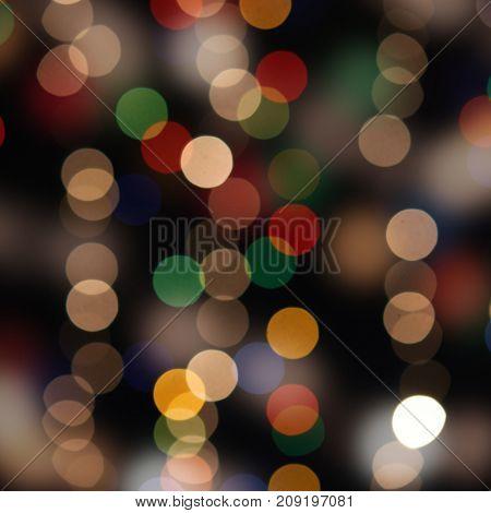 abstract holiday boke background, illumination on dark