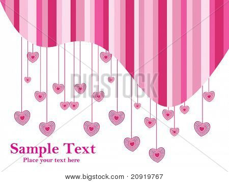 beautiful hearts with white pink background