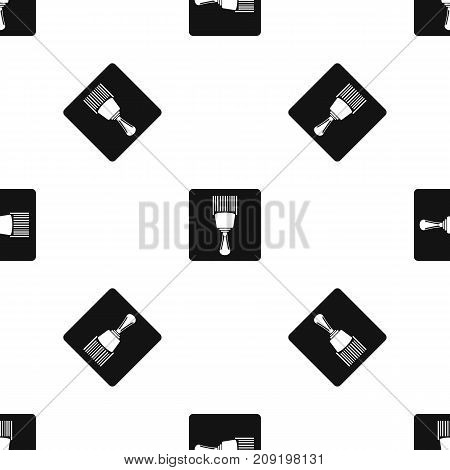 Bar code scanner pattern repeat seamless in black color for any design. Vector geometric illustration