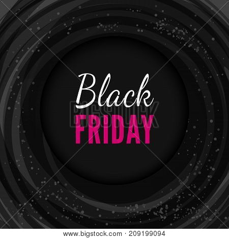 Black friday vector banner, realistic vector template for sale and promo