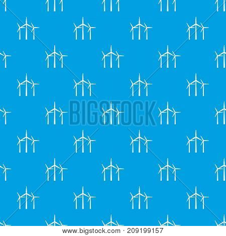 Wind turbines in simple style isolated on white background vector illustration