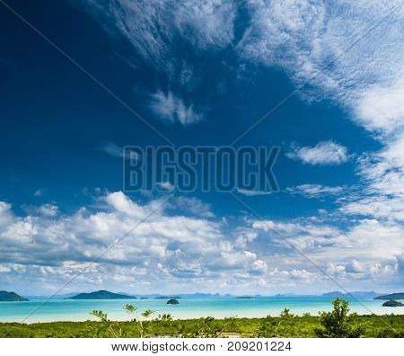 Remote Resort Vast Seascape