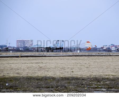 Air Show In The Sky Above The Krasnodar Airport Flight School.
