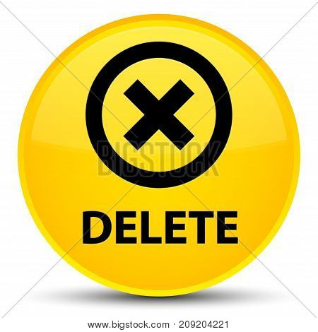 Delete Special Yellow Round Button