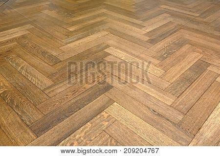 Parquet texture of a room