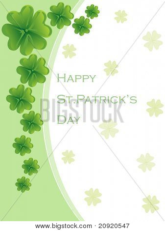 st. patrick's day greeting card abstract illustration