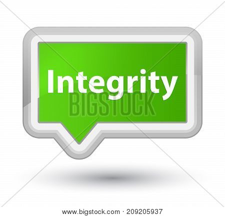 Integrity Prime Soft Green Banner Button