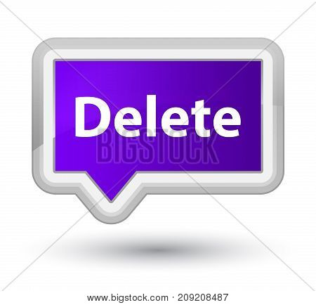 Delete Prime Purple Banner Button