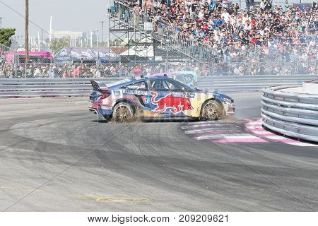 Rallycross Drivers Competing During The Red Bull Grc