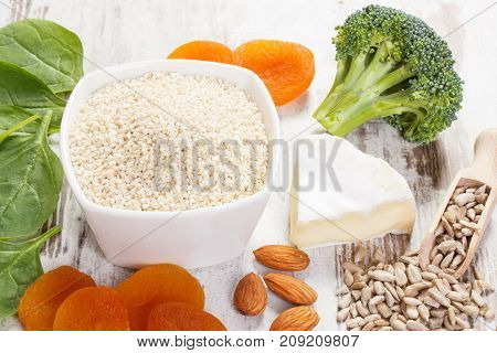 Products Or Ingredients Containing Calcium And Fiber, Healthy Nutrition