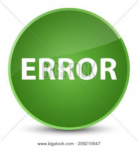 Error Elegant Soft Green Round Button