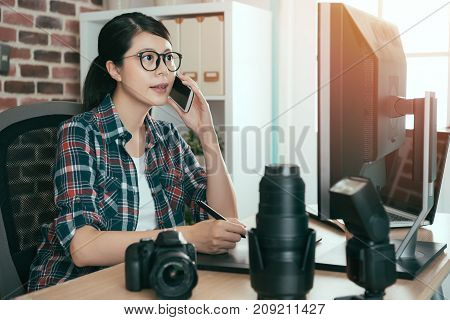 Beautiful Young Female Photo Design Editor