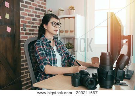 Beautiful Professional Female Photographer