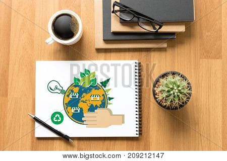 World Environment Day Earth Globe Ecology Tree And Green Leaf  Water Creative Work Environment