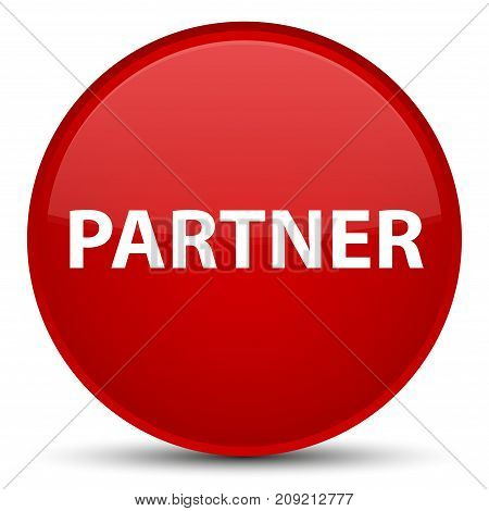 Partner Special Red Round Button