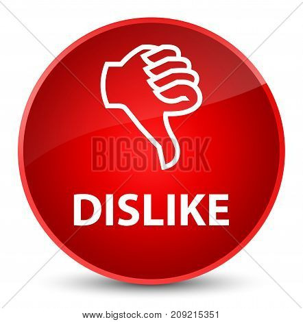 Dislike isolated on elegant red round button abstract illustration poster