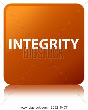 Integrity Brown Square Button