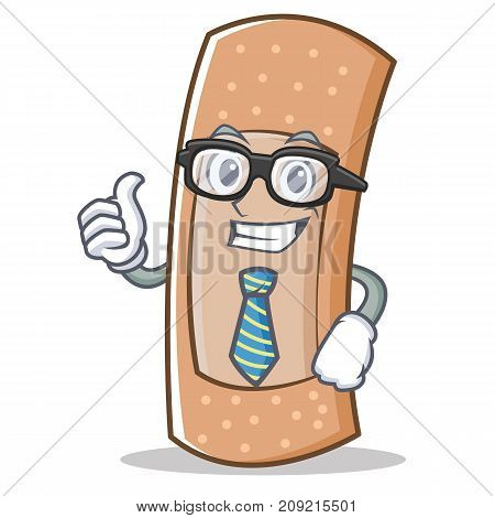 Businessman band aid character cartoon vector illustration