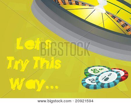 gambling wallpaper with casino elements