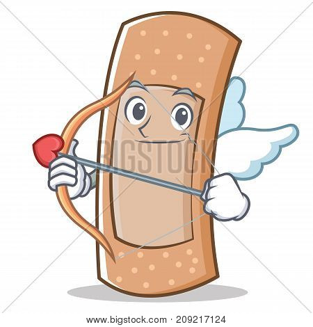 Cupid band aid character cartoon vector illustration