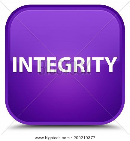 Integrity Special Purple Square Button