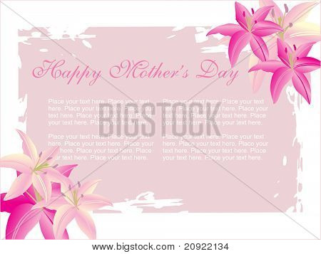 flower pattern frame, greeting for mother day, and with place for sample text