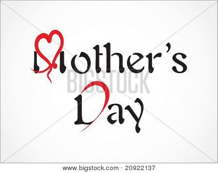 simple abstract mother day vector background