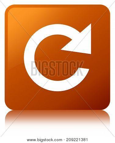 Reply Rotate Icon Brown Square Button