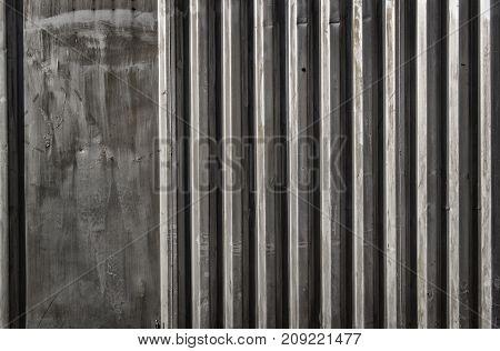 Metal profile background. Metal profile texture. Grey metal profile. Corrugated metal. Grey grunge metal. Grunge metal.