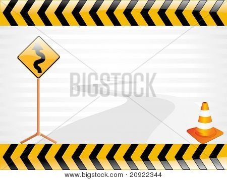 vector road sign illustration, wallpaper