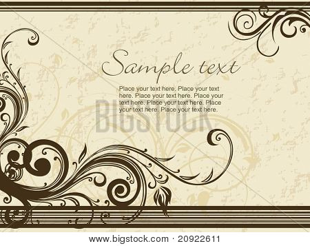 beautiful coffee color card illustration