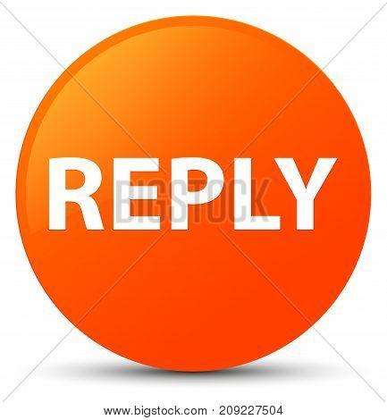 Reply Orange Round Button