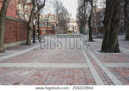 Old North Church And Paul Revere Statue