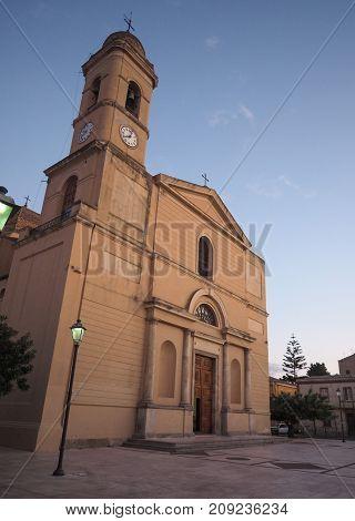 Maria Vergine Assunta Church In Selargius