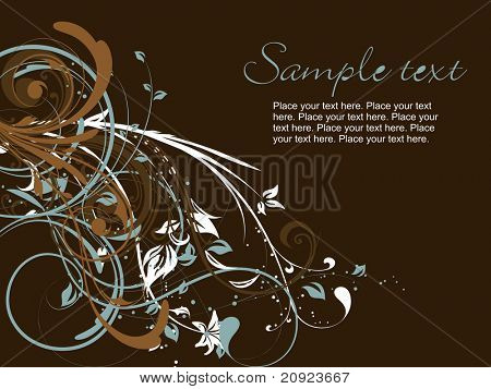 brown background with creative artwork