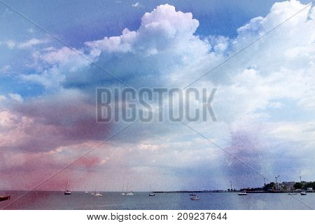 Excellent photo sky with clouds sunny day