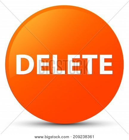 Delete Orange Round Button