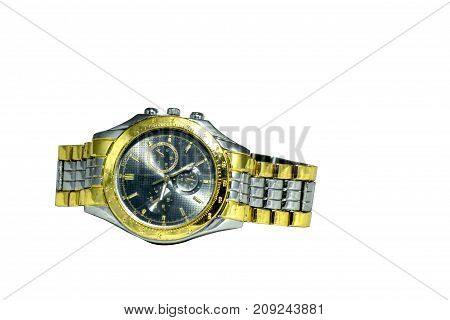 watch on white background Watch wrist wrist watch for daily time.