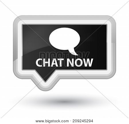 Chat Now Prime Black Banner Button